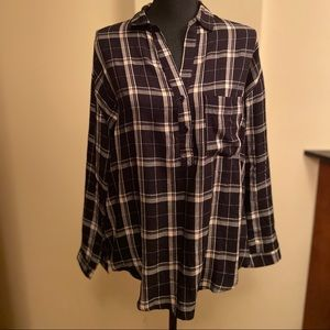 Lush Plaid Shirt Small
